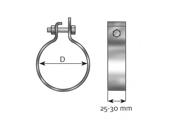 Exh Pipe Clamp