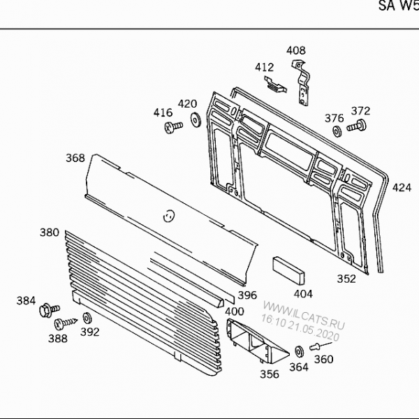Grille Panel Rubber Hinge To Flap